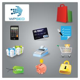 Vektor-Symbol für Einkaufskategorie
