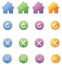 beautiful icon button vector