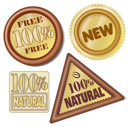 100 Prozent natürliches Symbol