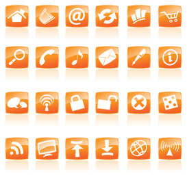 ícone de estilo de cristal laranja