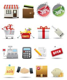 supermarket shopping icon vector