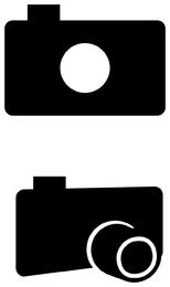 Fotografiar icono de camara