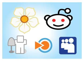 Ilustrações de ícones de mídia social
