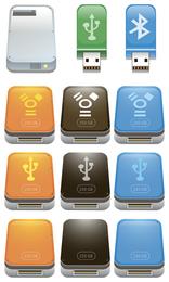Iconos de unidad flash USB