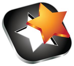 Ícone de vetor de estrela 3d,
