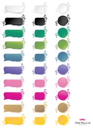 Rótulos de vetor colorido