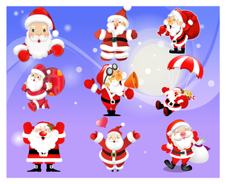 Vector Santa Claus Emojis