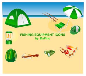 Ícones de equipamento de pesca