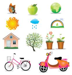 Conjunto de ícones do ambiente