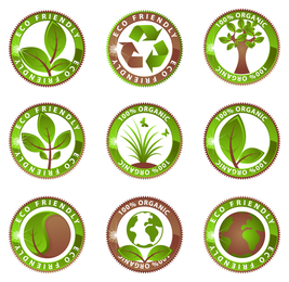 Eco friendly organic label set