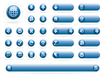 calm blue circle icon