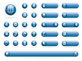 ícone de círculo azul calmo