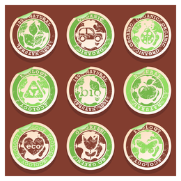 Ecology and organic label set