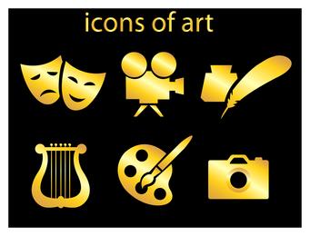 vector icono de arte