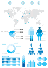Information and statistics infographic elements