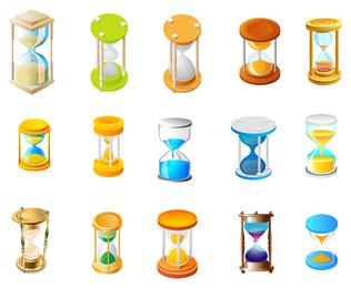 Vector icono de reloj de arena