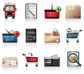 Einkaufen-Ikonen-Vektor 2