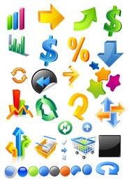 threedimensional icon vector symbols