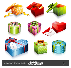 Urlaub Geschenk Symbol Vektor