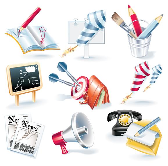 Elementos de escola e notícias 3D