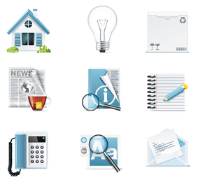 common icons 5 vector