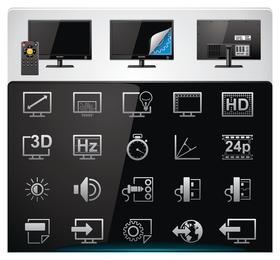 vetor de ícone de tecnologia 3