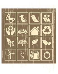 vetor de ícone ambiental de nostalgia
