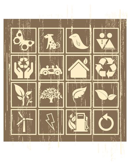 nostalgia environmental icon vector
