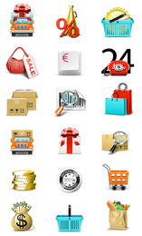 Business and shopping icons collection