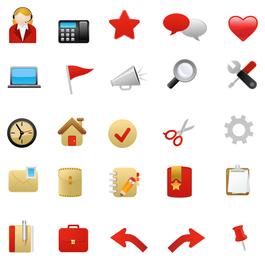 1 ícone do tema vermelho