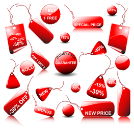 Red Icon Vector Sales 2