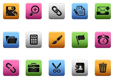 Vector de iconos de interfaz