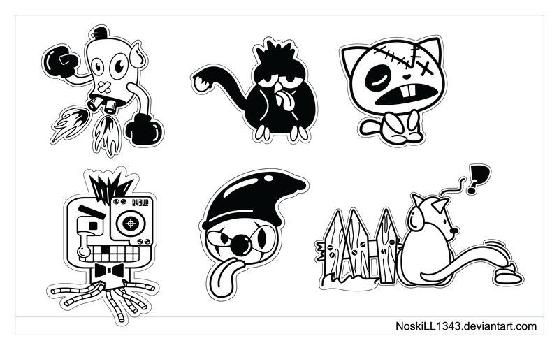 Sticker Art Character Icons Pack