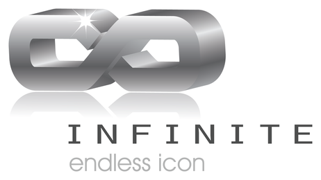 3d infinite vector icon,