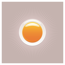 round orange crystal material