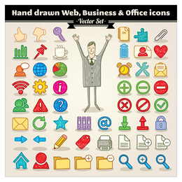 cartoon icon vector 4