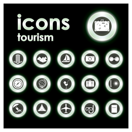 Eco tourism icons