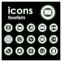Öko-Tourismus-Symbole