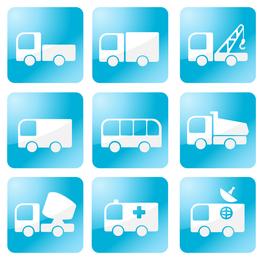 Simples ícone de vários carros