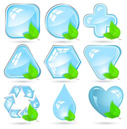 Kristall grünes Symbol Vektor