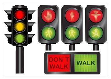 Vetor de ícone de semáforo