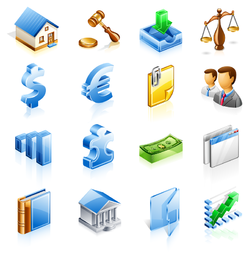 Finance department icon set