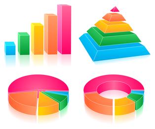 vetor de ícones de estatísticas de bach