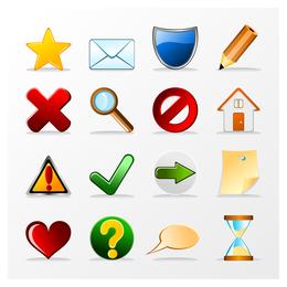 3D icons set