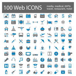 bluegray simple icon vector
