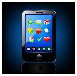 Smartphone ícone 3D tablet