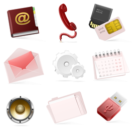 vetor de ícones de tecnologia