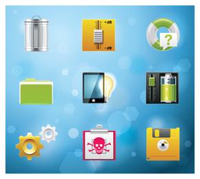 Conjunto de ícones de design 3D app
