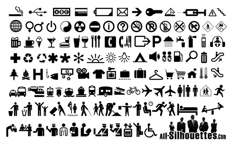 Collection of pictogram icons - Vector download