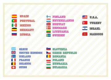 Conjunto de iconos de banderas básicas